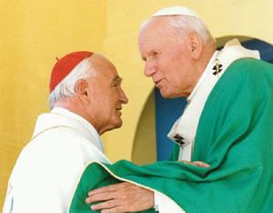 Sveti Ivan Pavao II. i kardinal Franjo Kuharić