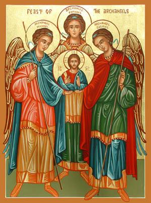 Slikovni rezultat za Sveti  Mihael, Gabriel i Rafael tri Arkanđela